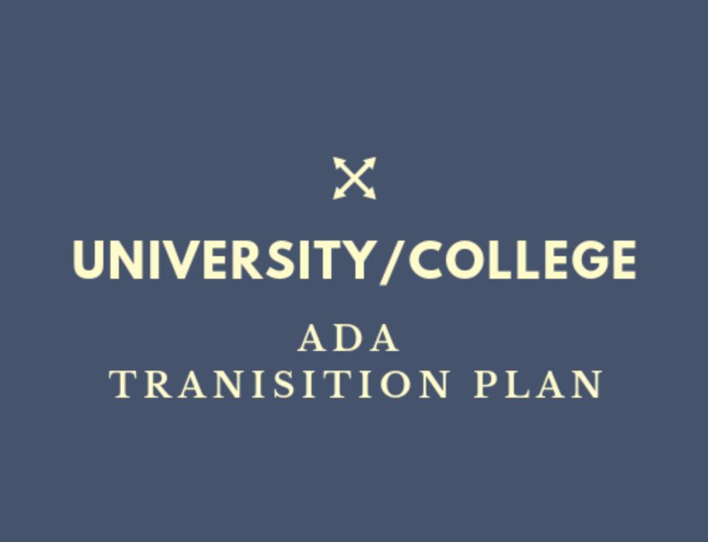 Universities and Colleges Needing an ADA Transition Plan